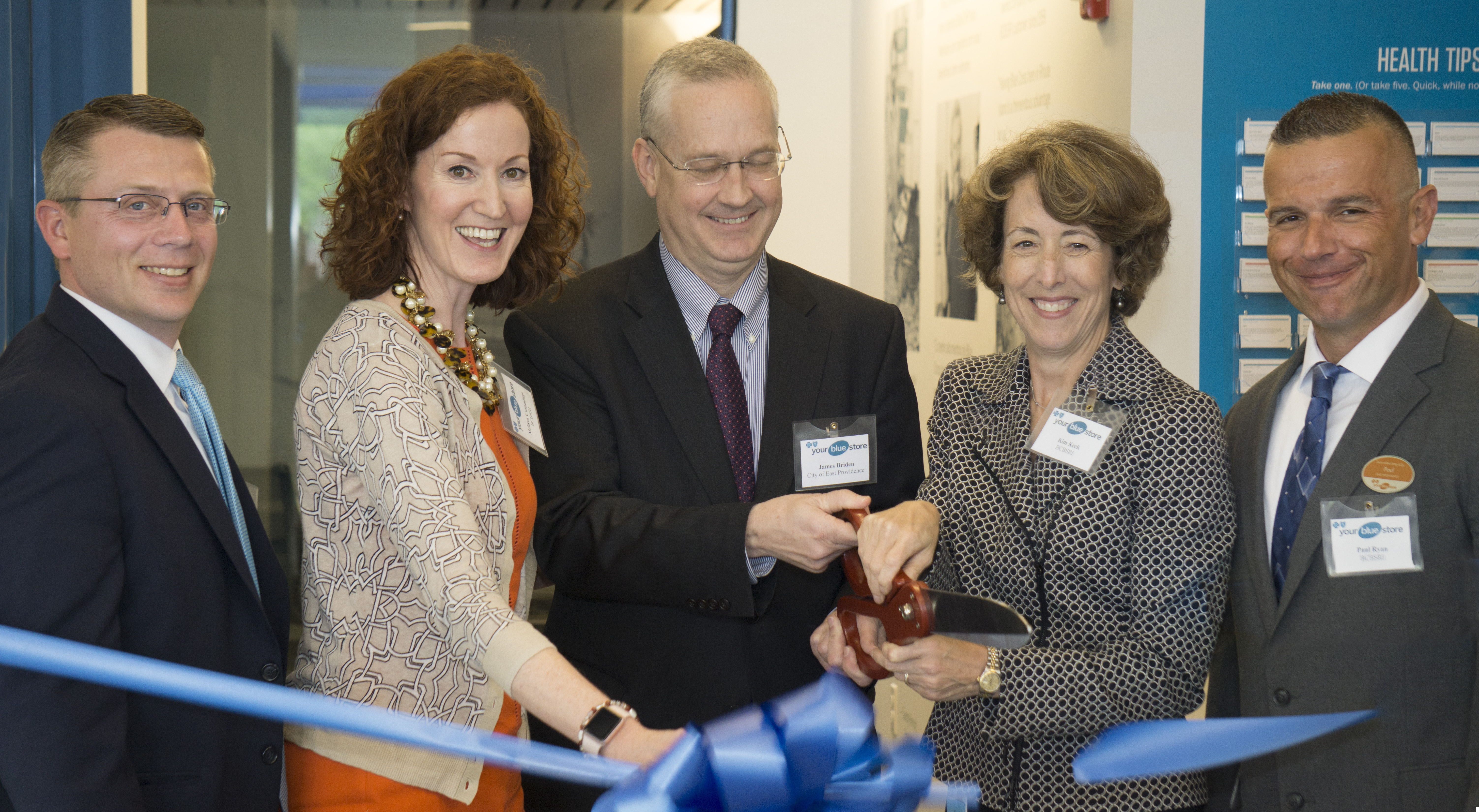 BCBSRI team cutting the ribbon at new Your Blue Store